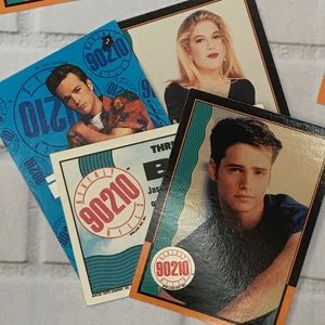 Beverly Hills 90210 set: 8 Trading Cards by Topps